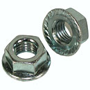 Serrated Hex Flange Lock Nuts - Coarse Thread - Grade 2 - Zinc