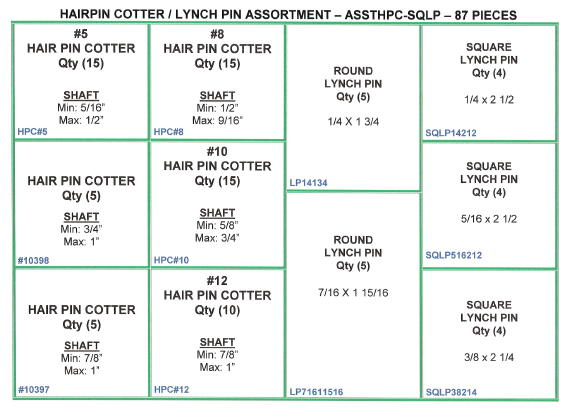 Hairpin Cotter / Lynch Pin Assortment