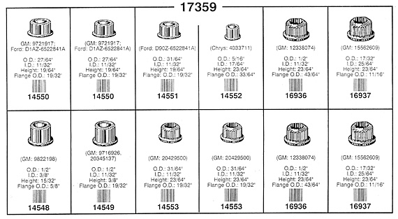 Auveco Door Hinge Bushing Assortment with 8 Varieties and 136 Pieces  sc 1 st  Nuts Bolts Screws and Fasteners - NutsandBolts.com & $79.67 - Auveco Door Hinge Bushing Assortment - 136 Pieces [17359 ...