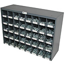 2625 Piece Grade 8 Nut and Bolts Assortment with 40 Hole Bin