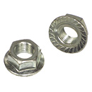 Serrated Hex Flange Lock Nuts - Fine Thread - Grade 2 - Zinc
